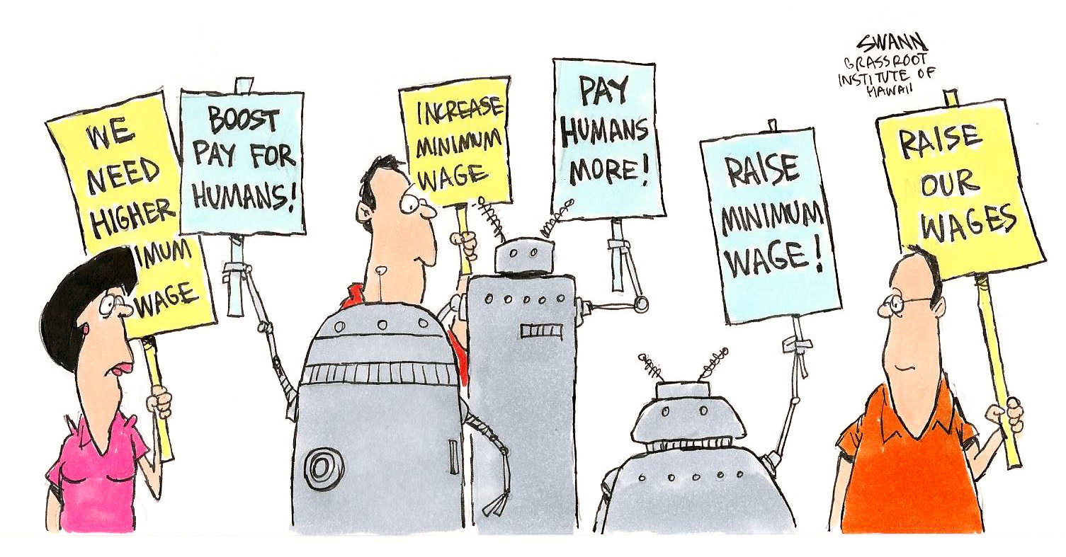 Wage floor great for robots