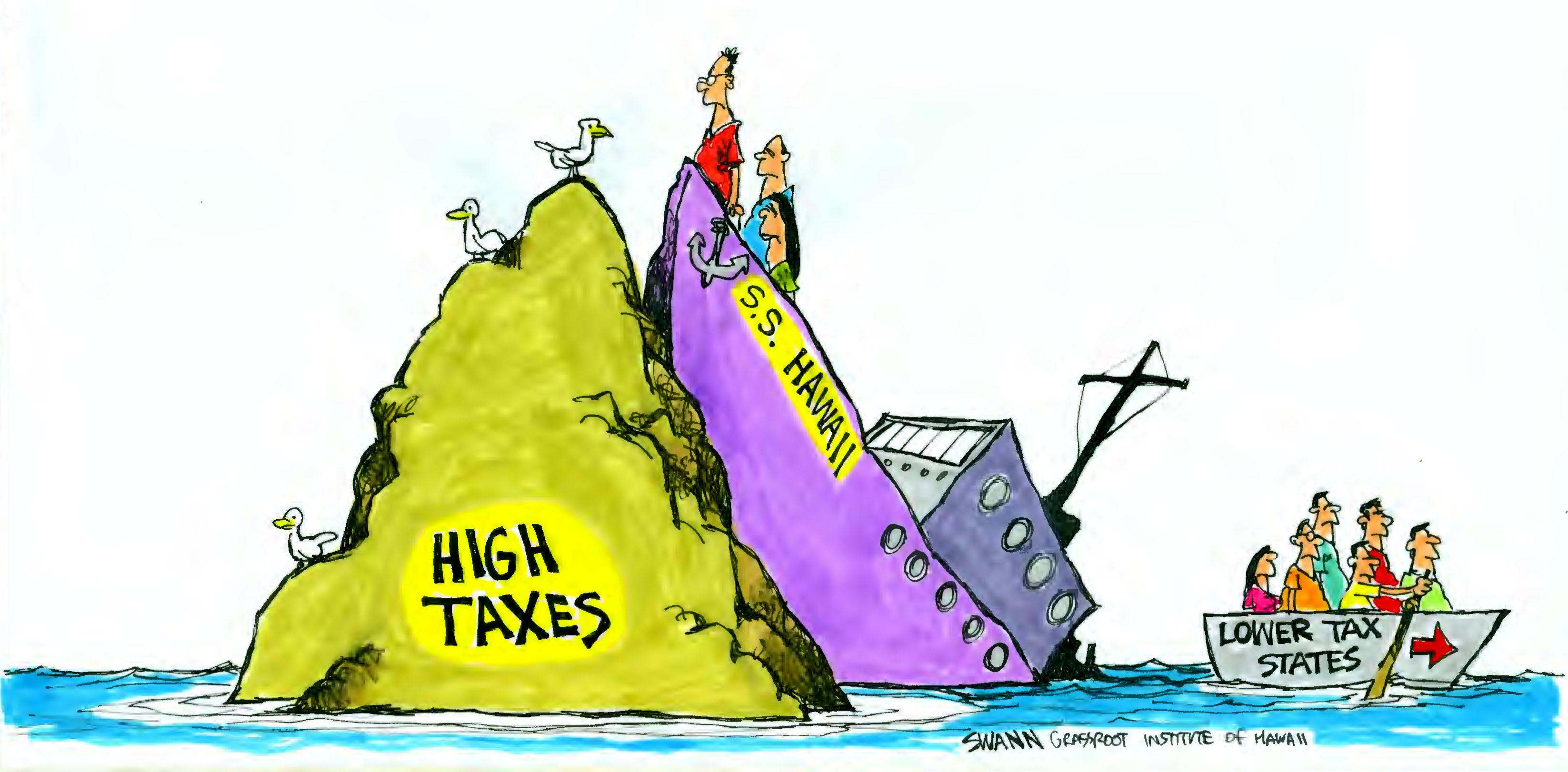 Locals flee Hawaii's high taxes
