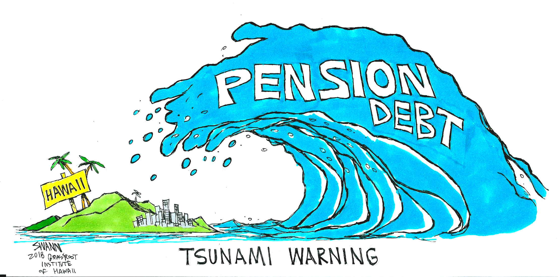 Pension debt tsunami hits Hawaii