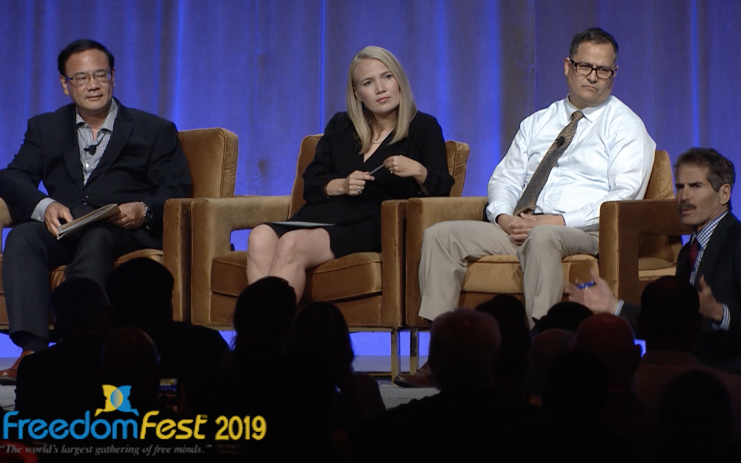 Stossel and Akina talk 'dirty dozen' at FreedomFest 2019
