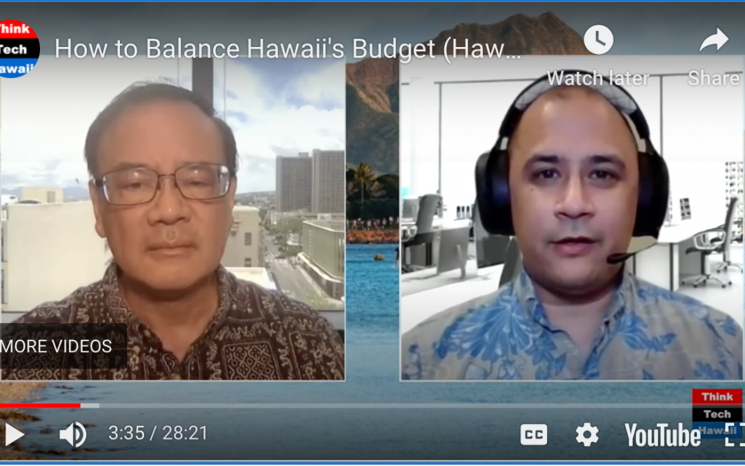 Kent, Akina discuss 'How to balance Hawaii's budget'