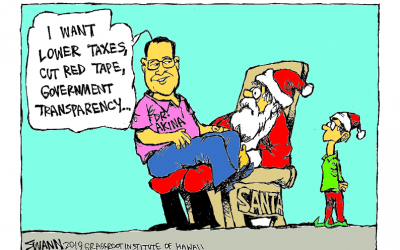 The best gift from Santa would be economic freedom