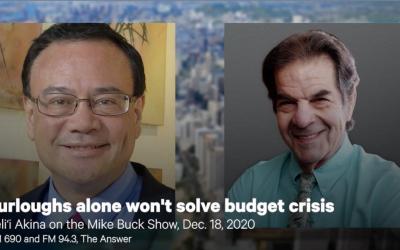 Furloughs alone won't solve budget crisis